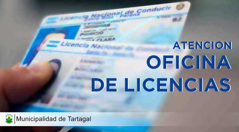 Desde el día de hoy las licencias serán emitidas en la terminal de ómnibus.