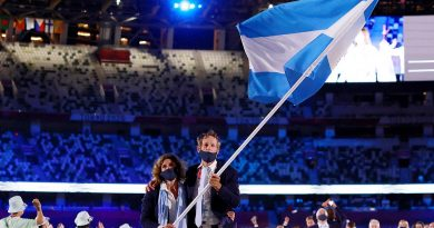 Argentina, con Lange y Sarioli, engalanó la ceremonia inaugural en Tokio 2020